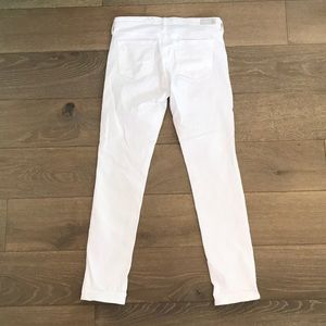 Ag Adriano Goldschmied Pants - White Jeans